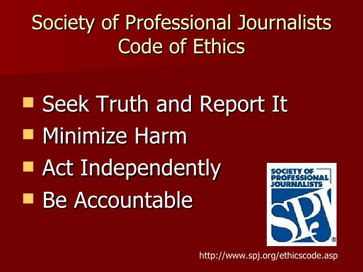 society of professional journalists ethics